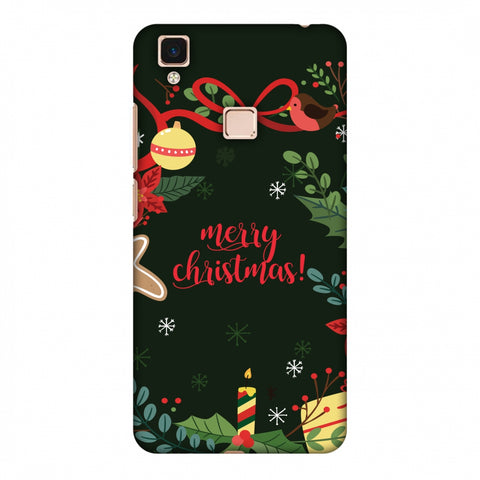 Christmas Cheer Slim Hard Shell Case For Vivo V3 Max