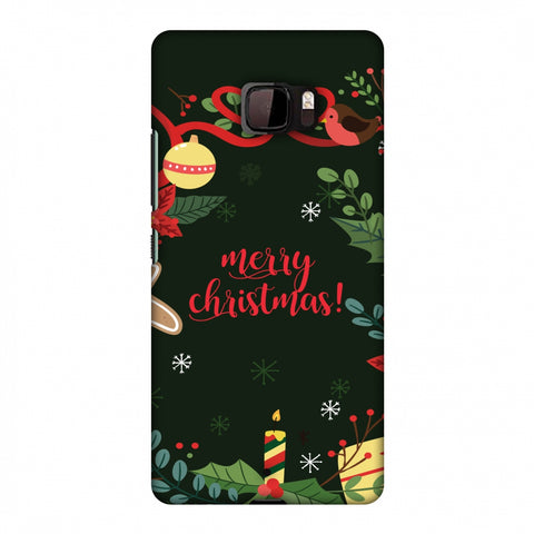 Christmas Cheer Slim Hard Shell Case For HTC U Ultra