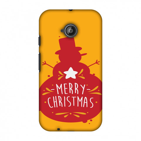 Very Merry Christmas Slim Hard Shell Case For Motorola Moto E 2nd Gen