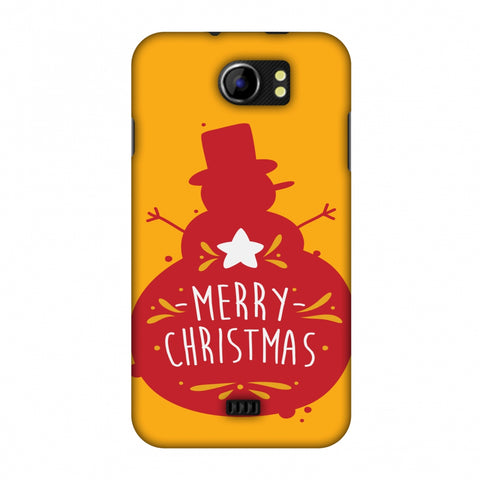 Very Merry Christmas Slim Hard Shell Case For Micromax Canvas 2 A110