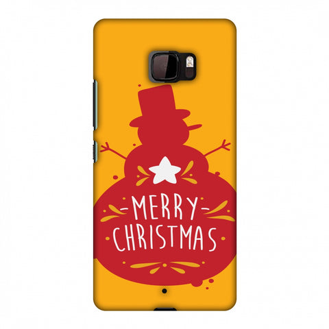 Very Merry Christmas Slim Hard Shell Case For HTC U Ultra