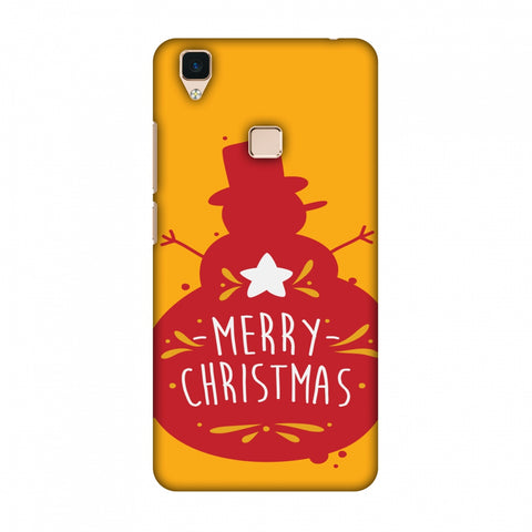 Very Merry Christmas Slim Hard Shell Case For Vivo V3