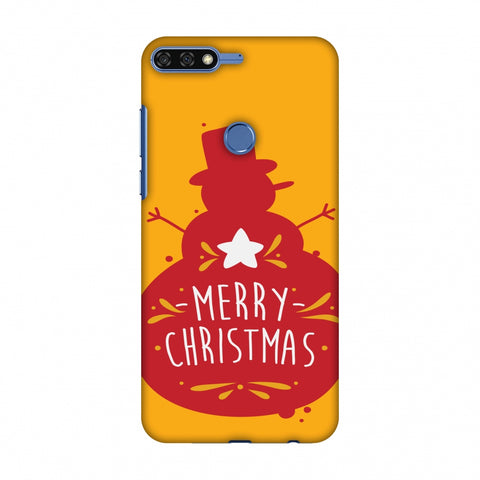 Very Merry Christmas Slim Hard Shell Case For Huawei Honor 7C
