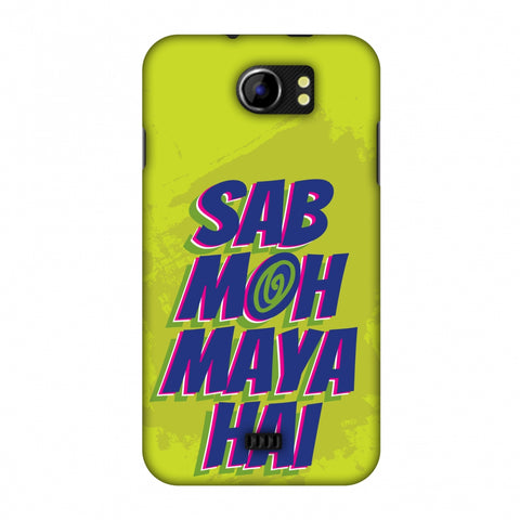 Sab Moh Maya Hai Slim Hard Shell Case For Micromax Canvas 2 A110