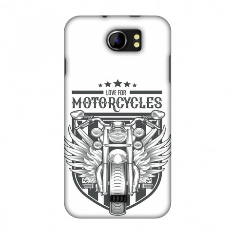 Love For Motorcycles : 3 Slim Hard Shell Case For Micromax Canvas 2 A110