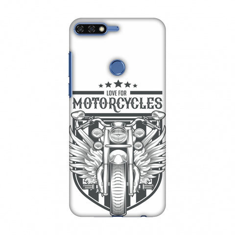 Love For Motorcycles : 3 Slim Hard Shell Case For Huawei Honor 7C