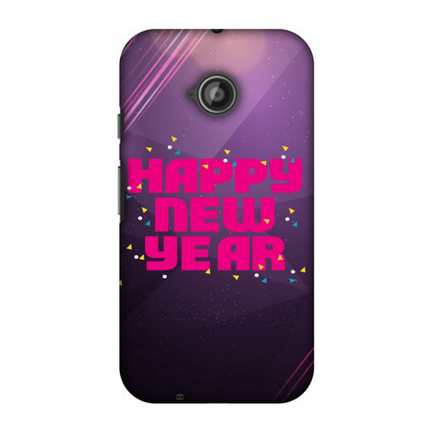Happy New Year Slim Hard Shell Case For Motorola Moto E 2nd Gen