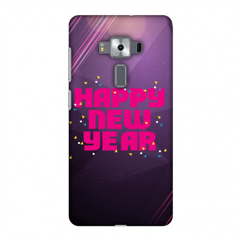 Happy New Year Slim Hard Shell Case For Asus Zenfone 3 Deluxe ZS570KL