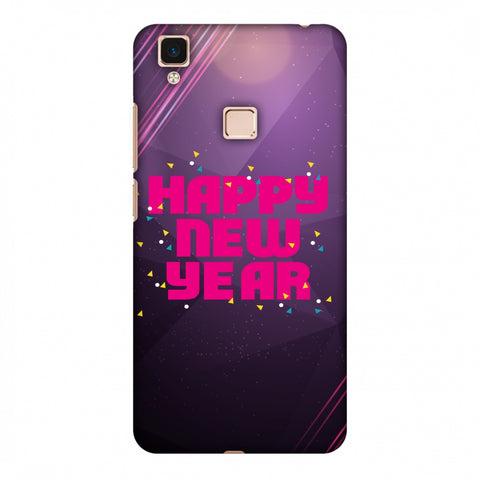 Happy New Year Slim Hard Shell Case For Vivo V3 Max