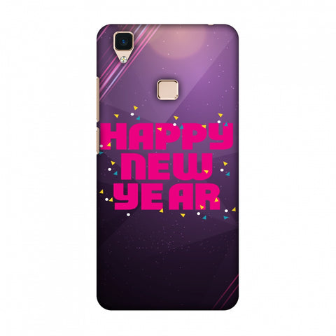Happy New Year Slim Hard Shell Case For Vivo V3