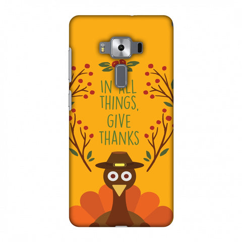 Thanksgiving:Wise Turkey 1 Slim Hard Shell Case For Asus Zenfone 3 Deluxe ZS570KL