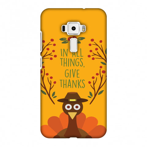 Thanksgiving:Wise Turkey 1 Slim Hard Shell Case For Asus Zenfone 3 ZE520KL