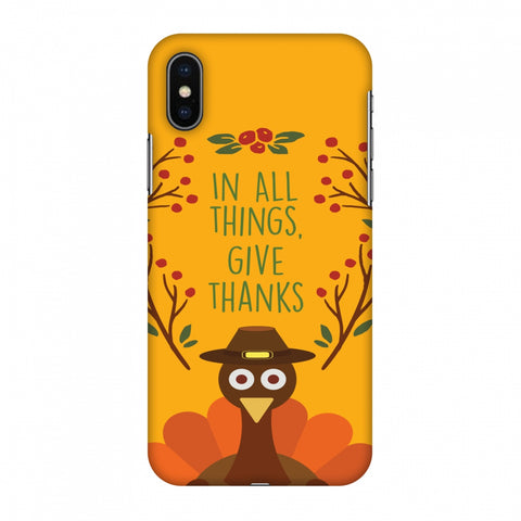 Thanksgiving:Wise Turkey 1 Slim Hard Shell Case For Apple iPhone X
