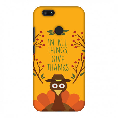 Thanksgiving:Wise Turkey 1 Slim Hard Shell Case For Xiaomi MI A1-5X