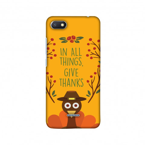 Thanksgiving:Wise Turkey 1 Slim Hard Shell Case For Xiaomi Redmi 6A
