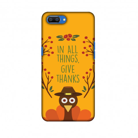 Thanksgiving:Wise Turkey 1 Slim Hard Shell Case For Oppo Realme C1