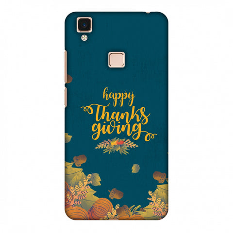 Thanksgiving Floral Pattern Slim Hard Shell Case For Vivo V3 Max