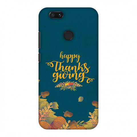 Thanksgiving Floral Pattern Slim Hard Shell Case For Xiaomi MI A1-5X