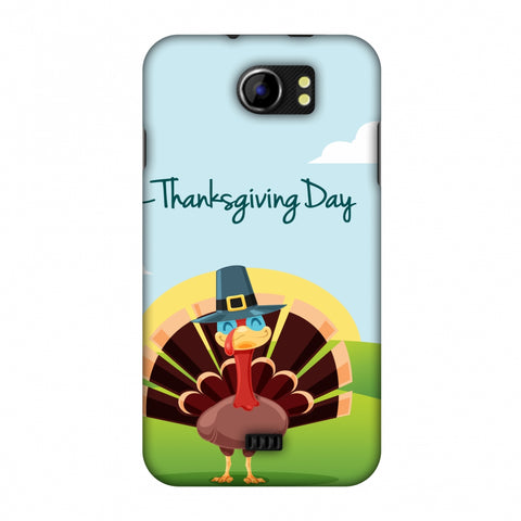 Thanksgiving:Wise Turkey 2 Slim Hard Shell Case For Micromax Canvas 2 A110