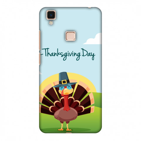 Thanksgiving:Wise Turkey 2 Slim Hard Shell Case For Vivo V3 Max