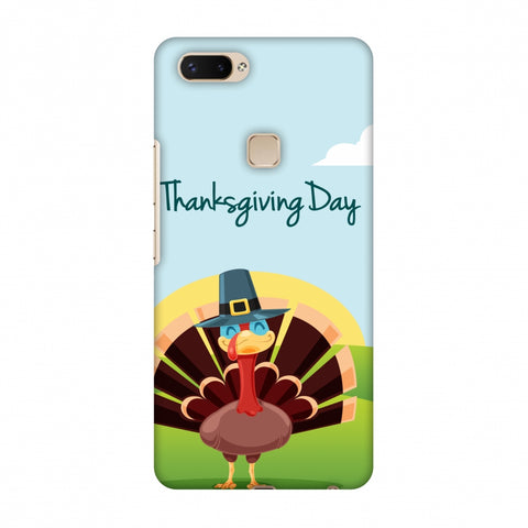 Thanksgiving:Wise Turkey 2 Slim Hard Shell Case For Vivo X20 Plus