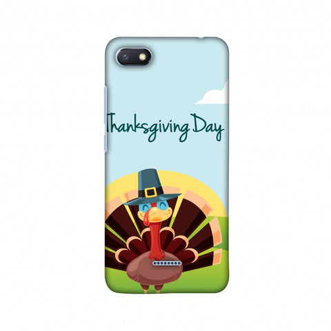 Thanksgiving:Wise Turkey 2 Slim Hard Shell Case For Xiaomi Redmi 6A