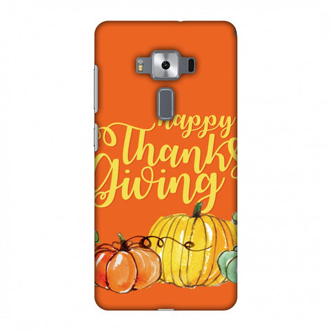 Thanksgiving Pumpkin Pattern Slim Hard Shell Case For Asus Zenfone 3 Deluxe ZS570KL