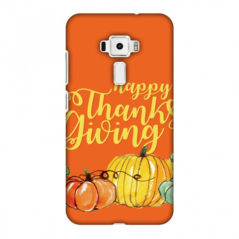 Thanksgiving Pumpkin Pattern Slim Hard Shell Case For Asus Zenfone 3 ZE520KL