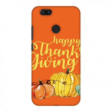 Thanksgiving Pumpkin Pattern Slim Hard Shell Case For Xiaomi MI A1-5X