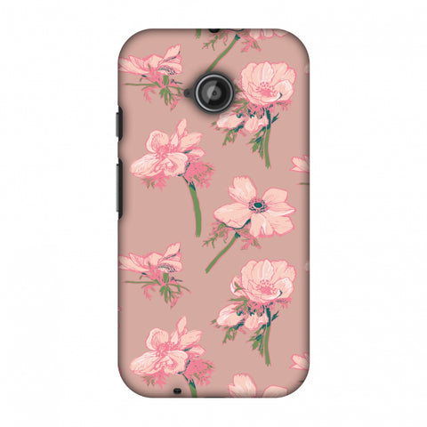 Floral Beauty Slim Hard Shell Case For Motorola Moto E 2nd Gen