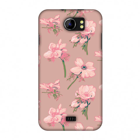 Floral Beauty Slim Hard Shell Case For Micromax Canvas 2 A110