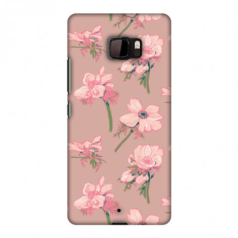 Floral Beauty Slim Hard Shell Case For HTC U Ultra