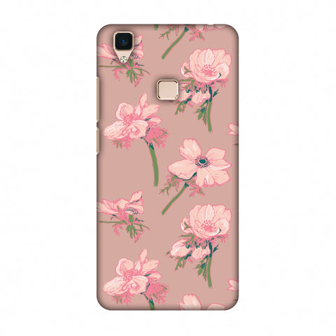 Floral Beauty Slim Hard Shell Case For Vivo V3