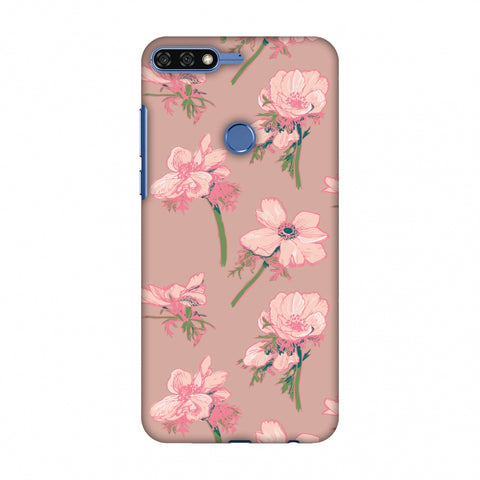 Floral Beauty Slim Hard Shell Case For Huawei Honor 7C