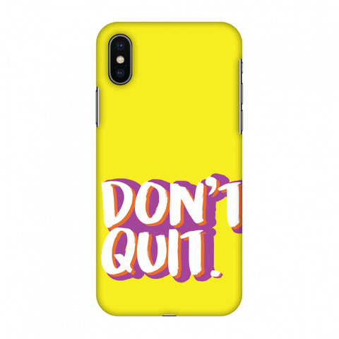 Dont Quit! Slim Hard Shell Case For Apple iPhone X