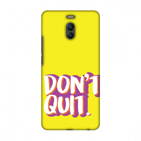 Dont Quit! Slim Hard Shell Case For Meizu Note 6