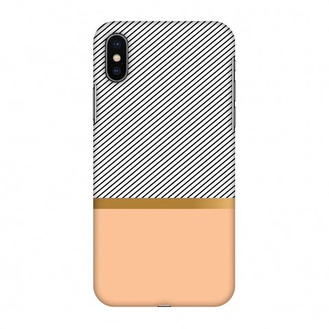 Stripe Away Slim Hard Shell Case For Apple iPhone X