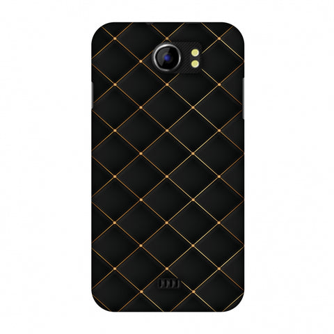 Golden Elegance Slim Hard Shell Case For Micromax Canvas 2 A110