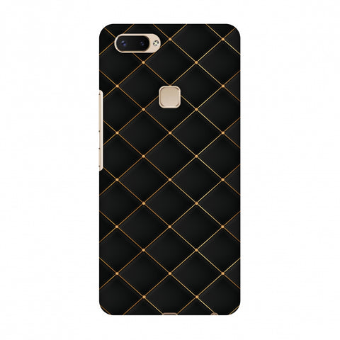 Golden Elegance Slim Hard Shell Case For Vivo X20 Plus