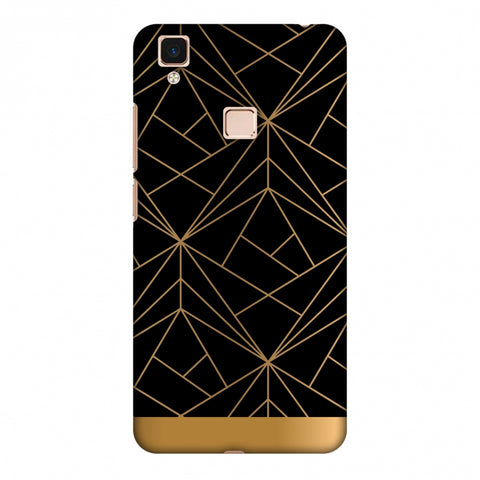 Golden Elegance II Slim Hard Shell Case For Vivo V3 Max
