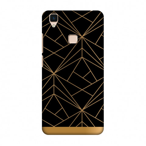 Golden Elegance II Slim Hard Shell Case For Vivo V3