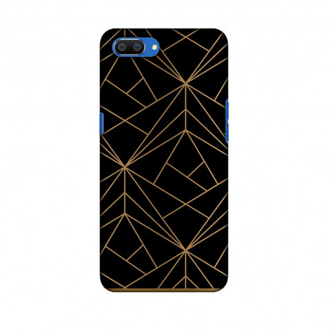 Golden Elegance II Slim Hard Shell Case For Oppo Realme C1