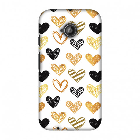 I Heart Hearts Slim Hard Shell Case For Motorola Moto E 2nd Gen