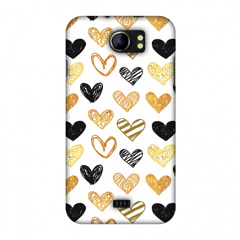 I Heart Hearts Slim Hard Shell Case For Micromax Canvas 2 A110