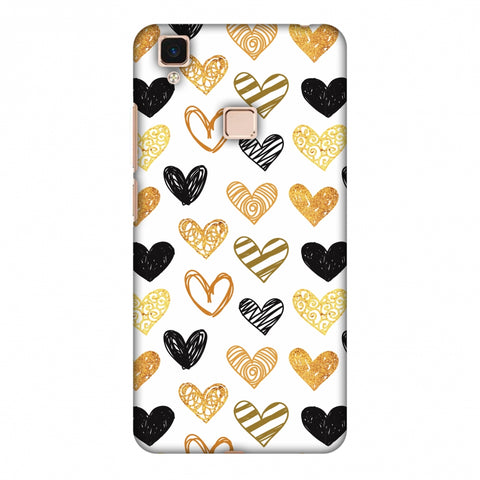 I Heart Hearts Slim Hard Shell Case For Vivo V3 Max