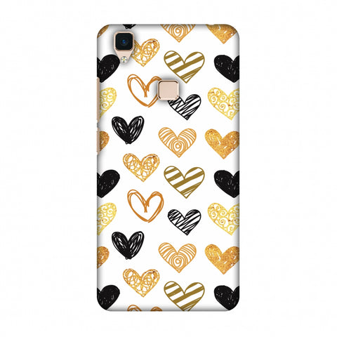 I Heart Hearts Slim Hard Shell Case For Vivo V3