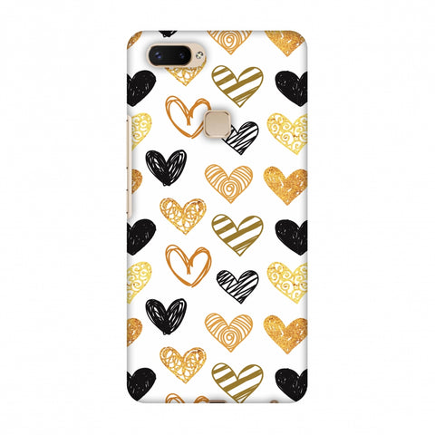 I Heart Hearts Slim Hard Shell Case For Vivo X20 Plus