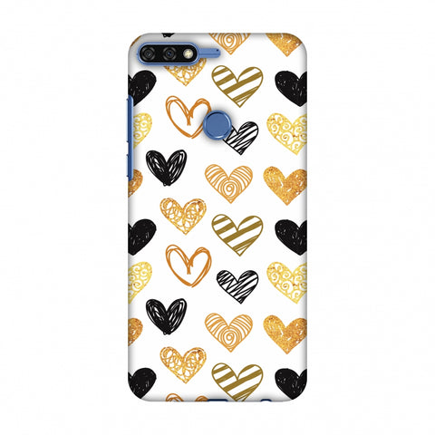 I Heart Hearts Slim Hard Shell Case For Huawei Honor 7C