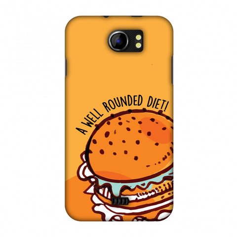 Soul Foods: Burger Slim Hard Shell Case For Micromax Canvas 2 A110