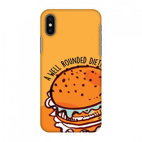 Soul Foods: Burger Slim Hard Shell Case For Apple iPhone X
